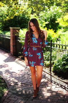 Plum Flower Dress - Dottie Couture Boutique Dottie Couture Boutique, Plum Flowers, Flower Dresses, My Style, Hair, Closet, Fashion, Moda, Floral Dresses