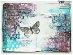 'Learn to love' mixed media journal page by Marta Lapkowska