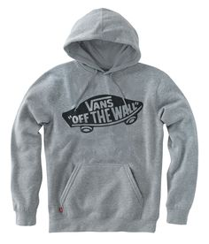 vans off the wall grey hoodie