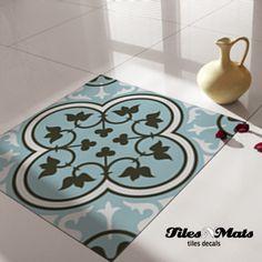Beautiful decorative floor tile decals - art series