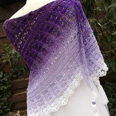 Pattern Custard Cream - yarn Magic Ombré Purple Rain by ColorfulLmadeshop