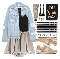 """""""Sem título #1005"""" by andreiasilva07 ❤ liked on Polyvore featuring SJYP, TIBI, New Balance, Bobbi Brown Cosmetics and Lizzie Fortunato Jewels"""