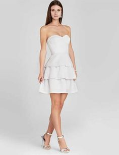 BCBG MAX AZRIA Jacklyn Strapless with Tiered Skirt