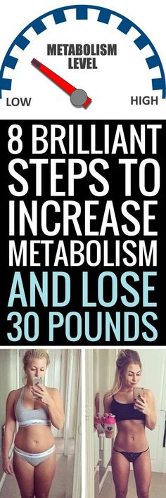 8 ways to speed up your metabolism and lose more weight.