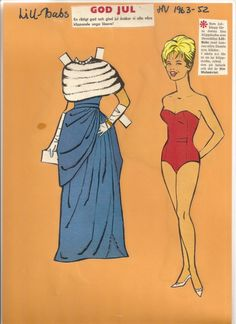 Lill-Babs, 1963 * 1500 paper dolls at International Paper Doll Society by artist Arielle Gabriel ArtrA QuanYin5 Linked In QuanYin5 Twitter *