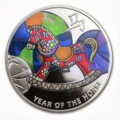 Niue 2014 half oz Silver Chinese Calendar - Rocking Horse