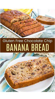 Banana Walnut Bread, Chocolate Chip Banana Bread, Chocolate Chips, Banana Bread Almond Flour, Low Fat Banana Bread, Sugar Free Banana Bread, Whole Wheat Banana Bread, Healthy Banana Bread, Banana Bread Recipes