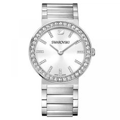 Swarovski 1185827 White Metal Women's Watch Swarovski Watches, Swarovski Gifts, Swarovski Jewelry, Swarovski Crystals, Swarovski Outlet, Piercings, Silver Water, Silver Metal, Birthstone Jewelry
