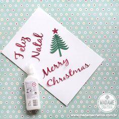 Cute Christmas cards using Silhouette Portrait machine - DIY ideas - Ideias de cartão de Natal - Scrapbooking
