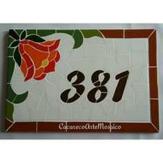 Numeros en mosaico Mosaic Art, Mosaic Glass, Mosaic Tiles, House Number Plaque, House Numbers, Stained Glass Patterns, Mosaic Patterns, Address Plaque, Home Signs