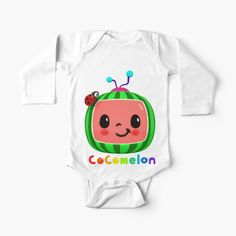 'Happy Birthday Cocomelon' Kids Clothes by StefaniaAlina Kids Songs, Simple Dresses, Chiffon Tops, V Neck T Shirt, Classic T Shirts, Baby Kids, Baby Onesie, Happy Birthday, My Arts