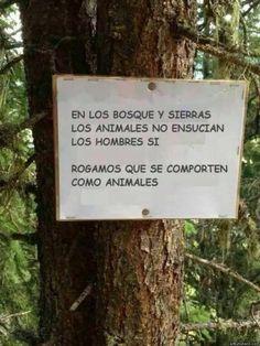 cuidemos la naturaleza... Seamos animales!!!