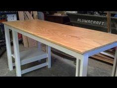 Easy Single Sheet Plywood Desk - YouTube