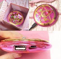 Carregador Portátil Inspirado no Broche de Sailor Moon Cristal