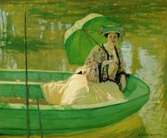 Lady with Parasol  Frederick C. Frieseke