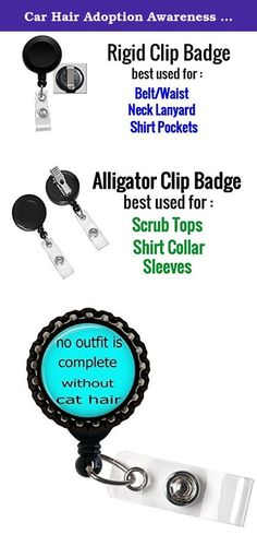 Car Hair Adoption Awareness ID Badge Holder Retractable Reel Bottle cap. Awesome Bottle Cap Id Badge Holder for the waist,Lanyards or scrubs top More Information about the ID Badge holders : 1. Retractable Reel to Conveniently Keep ID, Key and Cell phone Safe 2.Secure metal clip for easy fasten to pocket, belt, waistband, lanyard, Keychain and more 3. Plastic with silver metal belt clip, Bottle cap sits on the top with design. 4. Size: approx 1.25inch diameter (Retractable nylon cord…