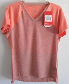 20a6cd2ab20e6 North Face Reactor V Neck Short Sleeve T Shirt Womens Top M New W Tags   NorthFace  AthleticTops