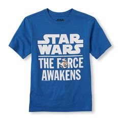 Boys Short Sleeve 'Star Wars The Force Awakens' Graphic Tee   Kids Fashion