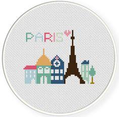 Paris Cross Stitch Pattern