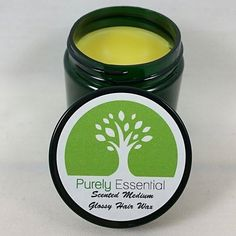 Lavender Rosemary Organic Pomade - Medium Hold Glossy - All Natural Hair Styling Wax - 2oz $8.99 - Fir Needle, Unscented, Strong Hold, and Matte Finish Varieties Available