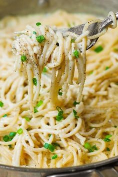 Chicken Spaghetti Recipe With Cream Cheese.Chicken Spaghetti Recipe How To Make Delicious Chicken . Spaghetti With Mushroom Cream Sauce Recipe FineCooking. Home and Family Casserole Spaghetti, Spaghetti Sauce Easy, Chicken Spaghetti Recipes, Garlic Spaghetti, Cheese Spaghetti, Baked Spaghetti, White Spaghetti Recipe, Easy Pasta Sauce, Garlic Pasta