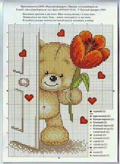 ♥Meus Gráficos De Ponto Cruz♥: Ursinhos do Amor em Ponto Cruz