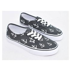 07e35291aa81 Custom Hand Painted Sailor Nautical Theme Anchor Pattern Charcoal Vans  Authentic Shoes - Vans Off The Wall - Made To Order Custom Sneakers SIZEEE 7