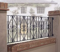 Beautifully styled, and manufactured to a very high standard by Burbage in the UK, Stirling Railing can be made to measure to meet your individual requirements. Balcony Grill Design, Balcony Railing Design, Window Grill Design, Metal Fence Panels, Metal Railings, Outdoor Metal Paint, Balustrade Balcon, Stirling, Wrought Iron Stairs