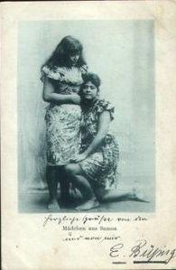 An early picture of Samoan ladies.