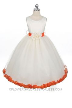Flower girl dresses coral and white shower