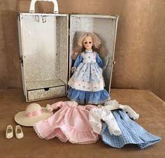 Effanbee Doll Caroline Vintage storage Trunk dress shoes hat lot set case box #Effanbee #DollswithClothingAccessories