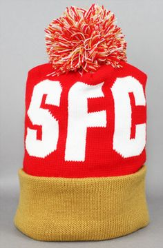Fully Laced The FL X Adapt SFC Pom Beanie (Red Gold) Fully Laced and Adapt  have come together to bring you this dope pom beanie in local colorways. 5409b2d02