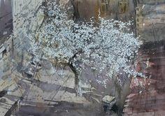 Peto Poghosyan Above, cm, watercolor on paper 2014 (plain -air) Watercolor Artists, Artist Painting, Watercolor Illustration, Watercolour Painting, Watercolor Flowers, Watercolours, Painting Lessons, Urban Landscape, Love Art