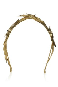 10 Embellished Headbands That Can Beautify Your Bedhead #refinery29  http://www.refinery29.com/tiaras#slide2   Jennifer Behr Pegasus Gold-Tone Headband, $375, available at Net-A-Porter.