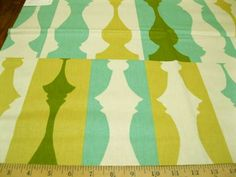 """Fabric Waverly So Silhouette Turquoise WV295  light upholstery $17.49/yd  27x27"""" repeat  100%cotton dry clean  54"""" wide"""