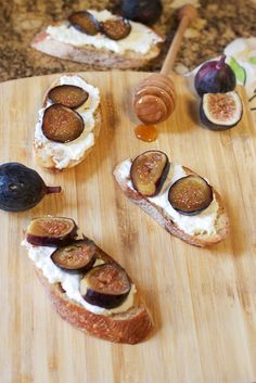 Fig and Ricotta Crostini from The Girl In The Little Red Kitchen