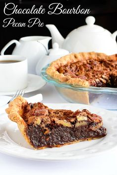 Chocolate Bourbon Pecan Pie, or make it without the alcohol. Either way, this is one amazing pie that's perfect for Thanksgiving, the Holidays, or any occasion you like. #Thanksgibing #christmas #pecanpie #bestpierecipes #bourbon #bourbonrecipes Rock Recipes, Pie Recipes, Dessert Recipes, Dessert Ideas, Healthy Recipes, Chocolate Bourbon Pecan Pie, Chocolate Recipes, Just Desserts, Delicious Desserts