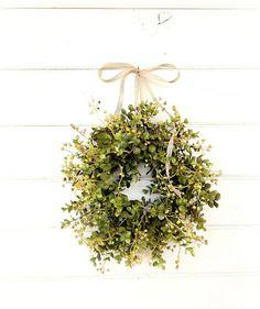 Farmhouse Wreath-Fall Wreath-MINI Window Wreath-Eucalyptus #ad Fall Wreaths, Christmas Wreaths, Door Wreaths, Christmas Gifts, Christmas Decorations, Xmas, Pot Mason, Boxwood Wreath, Greenery Wreath