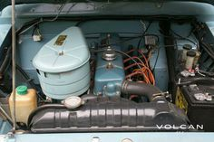 """Look at that engine bay. 'Indigo' is our rare-to-the-US, """"Hemmings Pick"""" 1979 Nissan Patrol LG-60 from Volcan 4x4."""