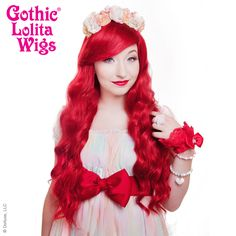 Gothic Lolita Wigs® <br> Classic Wavy Lolita™ Collection - Crimson Red