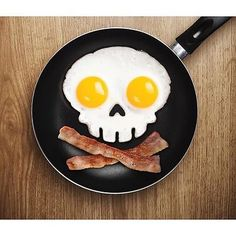 Skull Egg Shaper Silicone Fried Fry Pan Scary Art Mold Mould Party Novelty Spook