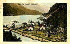 Hordaland fylke Odda kommune parti fra Tyssedal Hardanger  fargekort Utg C.A.Erichsen - Norge  Brukt 1915