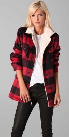 Collection Buffalo Plaid Coat Womens Pictures - Reikian