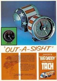 "Vintage Drag Racing - Dixco's ""Big Daddy"" Don Garlits Tach"