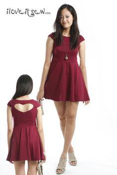 9d182696d33f Cut-out Heart Back Dress (Maroon) -  24.1 on  ClozetteCo