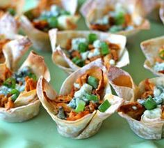 Buffalo Chicken Cups | Simple Dish: Real food for real life..  ☀CQ #party #appetizers #recipes