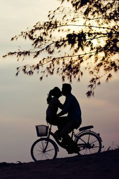 Bike rides and a sunset.