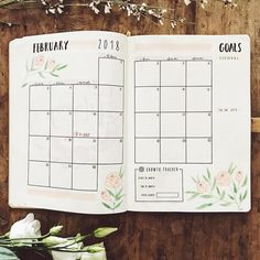 """254 Likes, 4 Comments - Elies Indigne (@eliesindigneart) on Instagram: """"My February monthly spread is looking on point! Can't wait to start the new month . #2018planner…"""""""