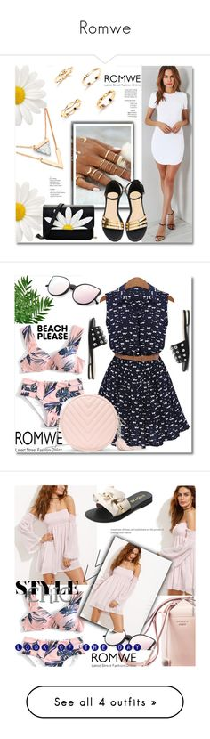 """""""Romwe"""" by ilona-828 ❤ liked on Polyvore featuring romwe, StreetStyle, Summer, polyvoreeditorial, BeachPlease and vacayoutfit"""