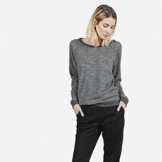 Women's Crew Sweatshirt - Grey Marled - Everlane